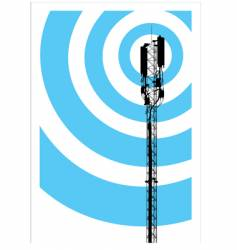 mobile communication mast vector image