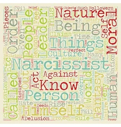 Narcissistic Leaders text background wordcloud vector image