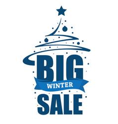 inscription big winter sale vector image
