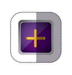 purple emblem volume up button vector image