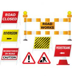 road work signs vector image