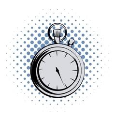Stopwatch comics icon vector image
