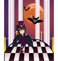 Vampire on Balcony vector image