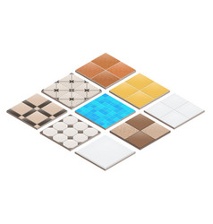 3d isometric tiles vector image
