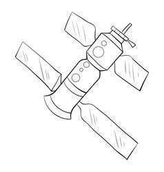 A children coloring bookpage cartoon rocket vector