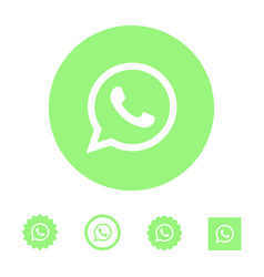 astana kazakhstan -10 july 2020 whatsapp icon vector image