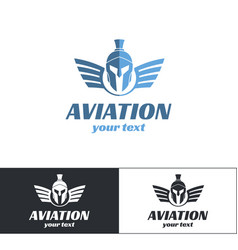 aviation logo design three vector image
