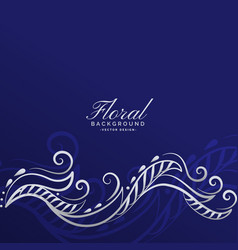 Awesome floral background design vector