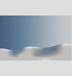 background landscape in snow snowflakes vector image