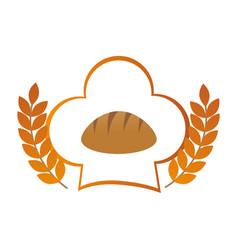 bakery shop emblem icon vector image