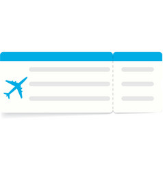 Blue boarding pass or airline ticket vector