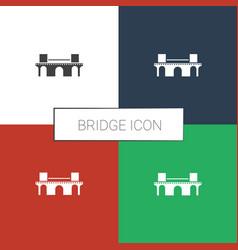 Bridge icon white background vector