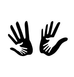 caring hand logo set helping vector image