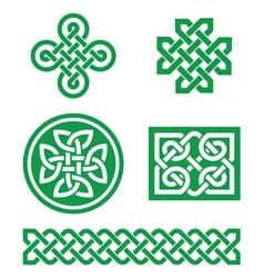 Celtic knots braid patterns - St Patricks Day vector