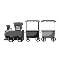 Children locomotive icon gray monochrome style vector image