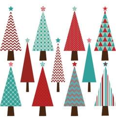 Christmas Tree Collection vector image