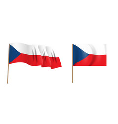 colorful naturalistic waving czech republic flag vector image