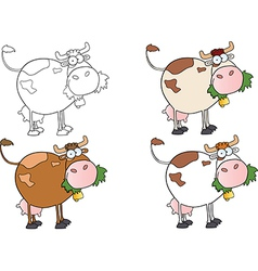 Cows Different Color-Collection vector image vector image