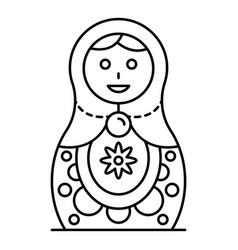 Culture nesting doll icon outline style vector