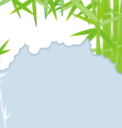 cut bamboo blue vector image