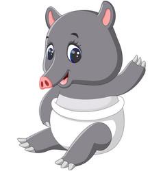 cute tapir cartoon vector image