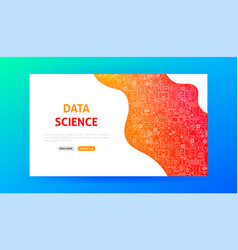 data science landing page vector image