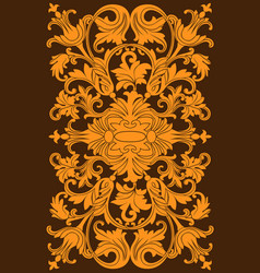 Decorative vintage frame or border to be printed vector