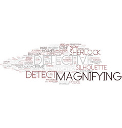 detect word cloud concept vector image