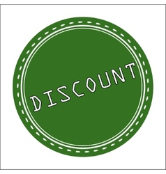 Discount Icon Badge Label or Sticke vector image