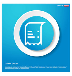 document icon abstract blue web sticker button vector image