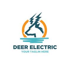 energy sources electric logo designs vector image