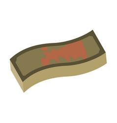 Flat icon on stylish background dirty money vector
