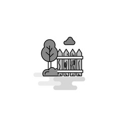 garden web icon flat line filled gray icon vector image