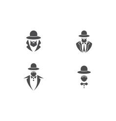 Gentleman tuxedo logo vector