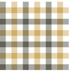 Gingham pattern grey gold white vector