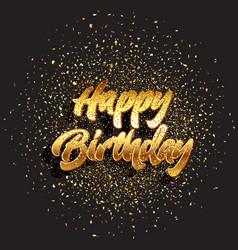 Glitter happy birthday background 2303 vector