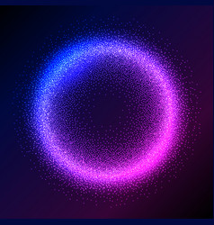 Glowing particles background vector
