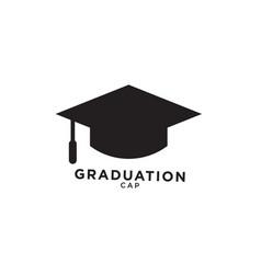 Graduation cap silhouette isolated vector