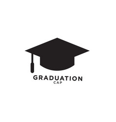 graduation cap silhouette isolated vetor vector image