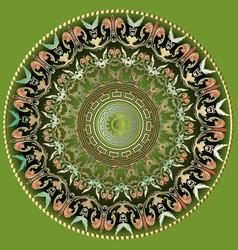 greek colorful round mandala pattern ornamental vector image