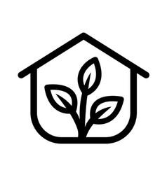Greenhouse icon set vector
