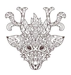 Hand drawn doodle outline deer head vector