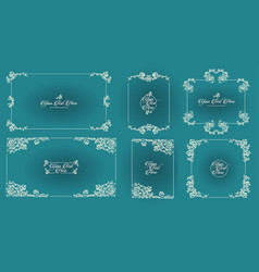 hand drawn sketch of vintage frames vector image