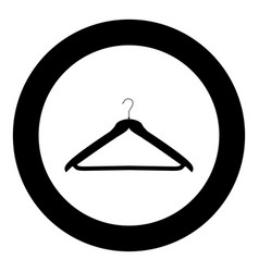 hanger black icon in circle isolated vector image