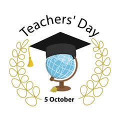 Happy teacher s day funny concept stock vector