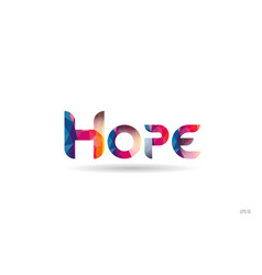 Hope colored rainbow word text suitable for logo vector