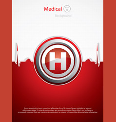 Hospital background vector