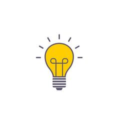 idea flat icon sign symbol vector image