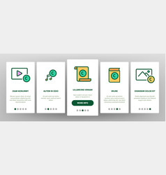 Intellectual property onboarding icons set vector
