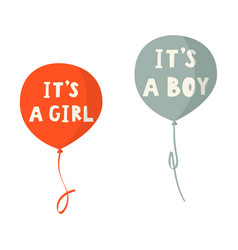 Its a boy and a girl hand drawn card vector